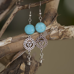Turquoise Blue Chakra Earrings