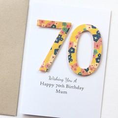 Any Age Birthday card | Personalised Custom Made | 18 21 30 40 50 60 70 80 90