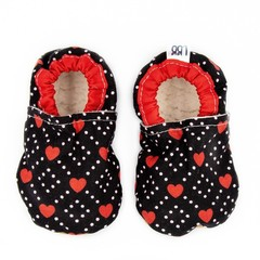Red Hearts Soft Sole Baby Shoes