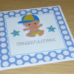 Baby Boy card - congratulations