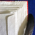 'Oat Meal' Hand Made Paper Writing Set in Red Folio