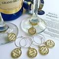 Mandala Wine Glass Charms Barware Set Pink Purple Homewares Earrings Accessories