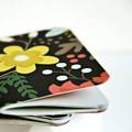 Mid 3x4in {2} Blank Books Autumn Flowers| Pocket Notebooks | Flowers Notebooks