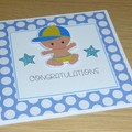 Baby Boy card - congratulations