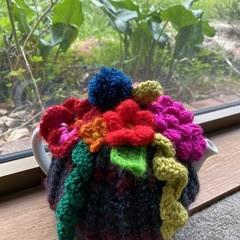 Crochet Floral Tea Cosy Handmade