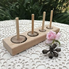 Toys of Wood - Natural Puzzle board with 4 different shapes