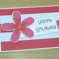 Happy Birthday card - hibiscus flower