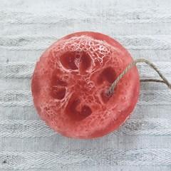 Loofah Soap - Raspberry