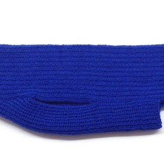 Classic Turtleneck Merino Wool Knitted Dog Jumper - Electric Blue.