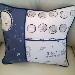 Nursery cushion cover, stars and moon cushion cover, baby shower gift