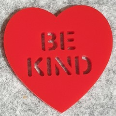 Be Kind Heart Brooch