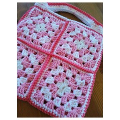 Little Girl's Handbag - Pink Patches