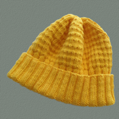 Yellow Gold Woollen Hat in Small Adult Size
