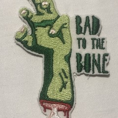 Bad to the Bone Iron-on Patch