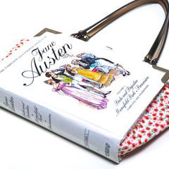 Jane Austen Novel Bag - The Complete Illustrated Novels vol. 1 - Upcycled book