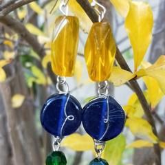 Vibrant glass 'lolly' earrings