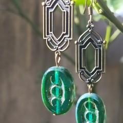 Art deco style earrings.