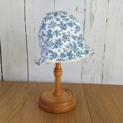 Baby Blossom Hat - Blue Posy - 6-12 months
