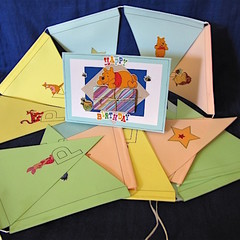 'Winnie the Pooh' Blue Birthday Card and Bunting Combo