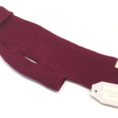 Classic Turtleneck Merino Wool Knitted Dog Jumper - Cranberry Sauce colour.