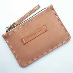 Veg-tan Leather Zip Purse