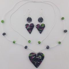 Heart of Hearts Beaded Necklace & Earrings