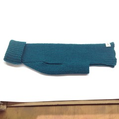 Classic Turtleneck Merino Wool Knitted Dog Jumper - Green.