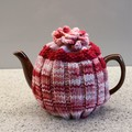Tea Cosy  Great Christmas Gift Strawberries & Cream in Stretch Rib for easy fit