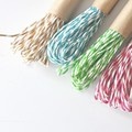 - PINK -  Striped Paper Twine {20m} Recycled Paper Twine | Twisted Paper Cord