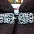 Short Brown Wool Blend Cloak