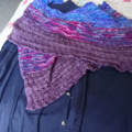Stripe and texture wide Scarf wrap