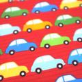wash cloth - red cars / organic cotton hemp fleecy