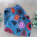 Dark Teal Floral Adult Sock Protectors