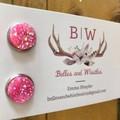 Druzy Stud Earrings - Pink.