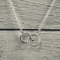 Silver infinity necklace | Sterling silver interlocking circles necklace  | Hand