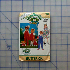 Butterick Cabbage Patch Kids 4053. Toddlers/Childrens jumper / jumpsuit pattern