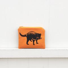 Screen printed Tasmanian devil coin purse