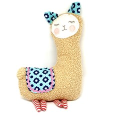 Llama softie, READY TO POST, personalised toy, baby girl toy, stuffed animal