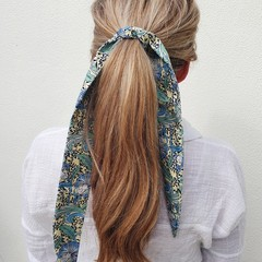 FREE POST  Scarf / Hair Tie - Blue, Green & Yellow
