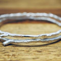 Sterling silver twig bracelet | 925 Sterling silver bangle | Handmade silver ban