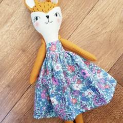 Juniper the Fox doll- handmade softie