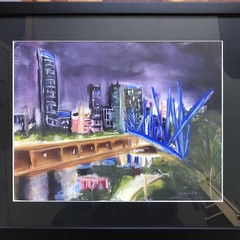 KURILPA BY NIGHT  Original Pastel Painting