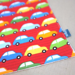 wash cloth - red cars / organic cotton hemp fleecy