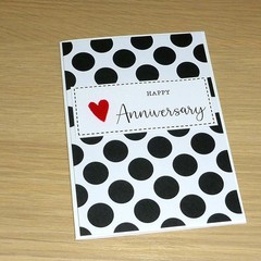 Anniversary Card - black and white spots