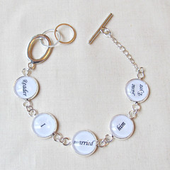 Jane Eyre Bracelet Quote Jewelry Jewellery Reader I Married Him Charlotte Bronte