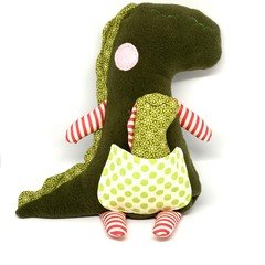 Dinosaur, stuffed animal, personalised toy, baby girl toy, baby boy toy