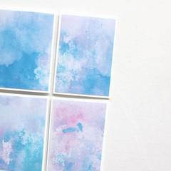 4 Mini Gift Cards   Watercolours   Blank Birthday Thank You   Junior Artist