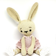 Ballerina Bunny, personalised toy, baby girl toy, crochet toy