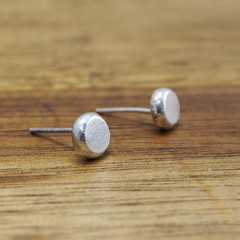 Tiny solid 925 silver studs | Recycled sterling silver earrings | simple silver