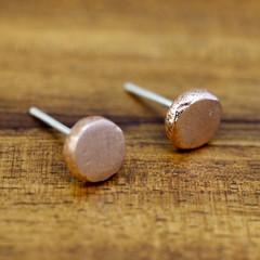 Little copper stud earrings | Recycled solid copper earrings
